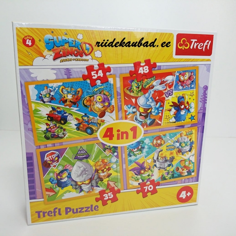 Super Zings Trefl pusle 4in1